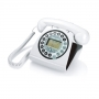 TELEFONO FISSO VINTAGE CON DISPLAY WHITE